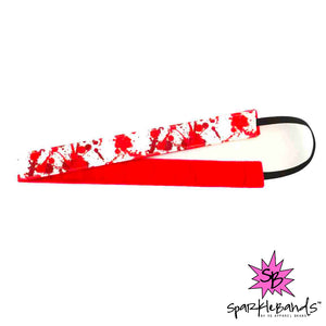 Blood Spatter Headband -  Non-Slip Headband | DG Apparel Brand