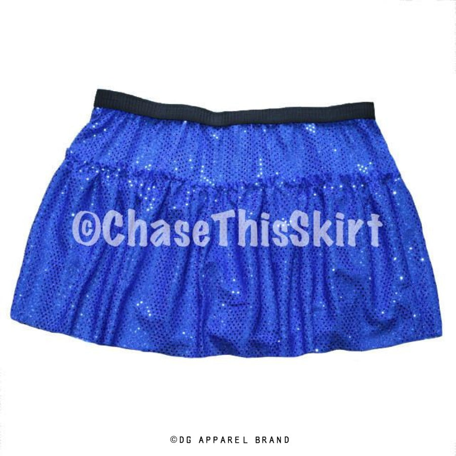 Blue Sparkle Running Skirt -  Running Skirt | DG Apparel Brand