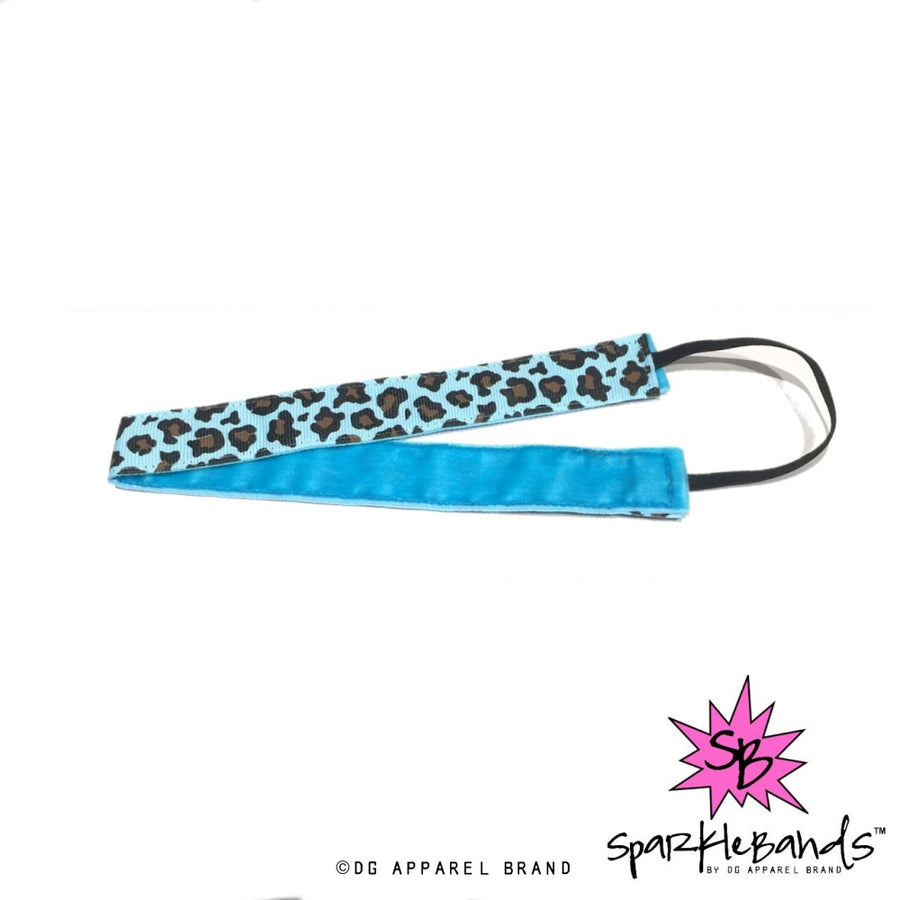 Blue Leopard Headband -  Non-Slip Headband | DG Apparel Brand