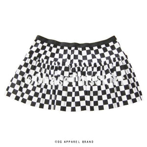 Black & White Checkered Running Skirt -  Running Skirt | DG Apparel Brand