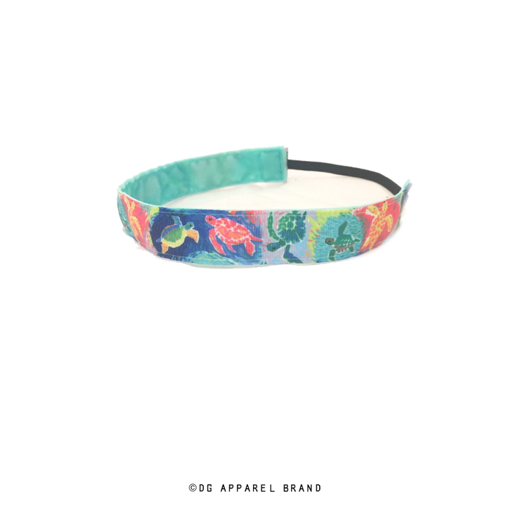 Colorful Sea Turtle Headband -  Non-Slip Headband | DG Apparel Brand