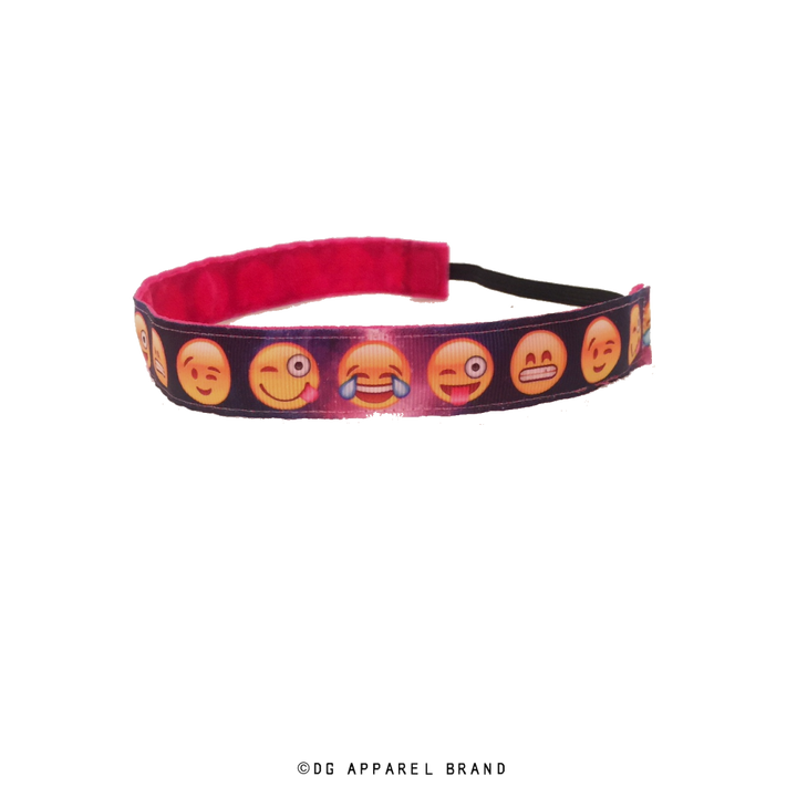 Outer Space Emoji Headband -  Non-Slip Headband | DG Apparel Brand