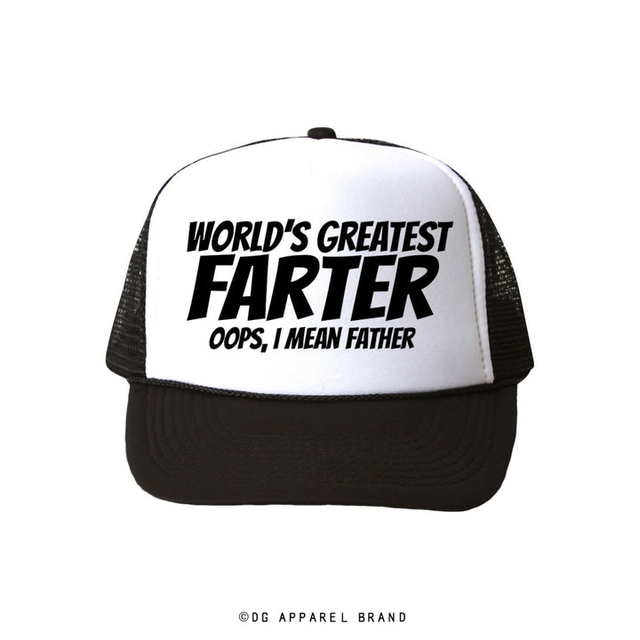 World's Greatest Farter Trucker Hat -  Trucker Hat | DG Apparel Brand