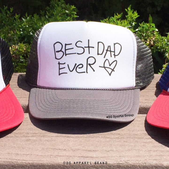 Custom Father's Day Trucker Hat - Your Kid's Writing -  Trucker Hat | DG Apparel Brand