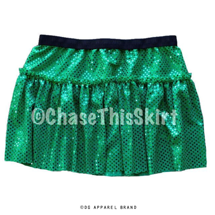 Green Sparkle Running Skirt -  Running Skirt | DG Apparel Brand