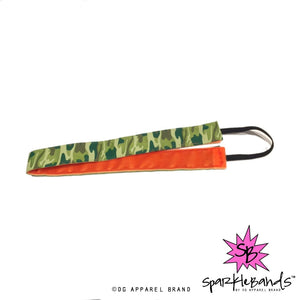 Camo/Orange Headband -  Non-Slip Headband | DG Apparel Brand