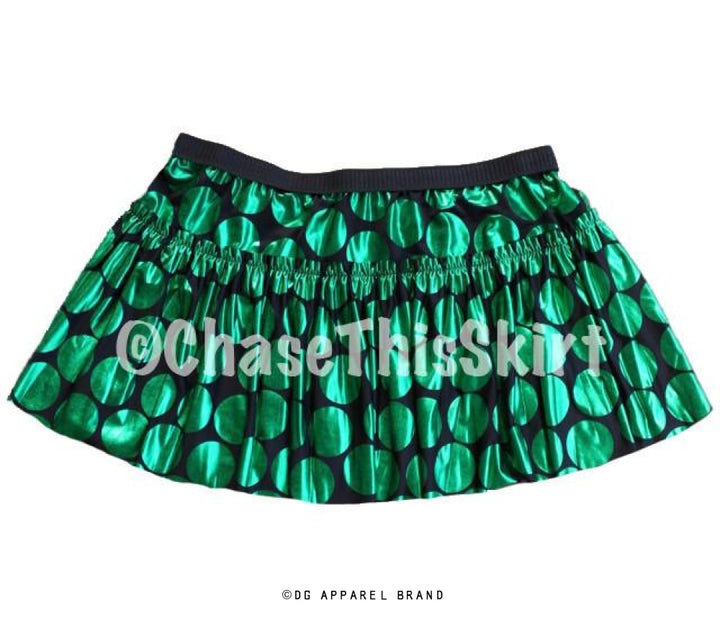 Green Dot Running Skirt -  Running Skirt | DG Apparel Brand