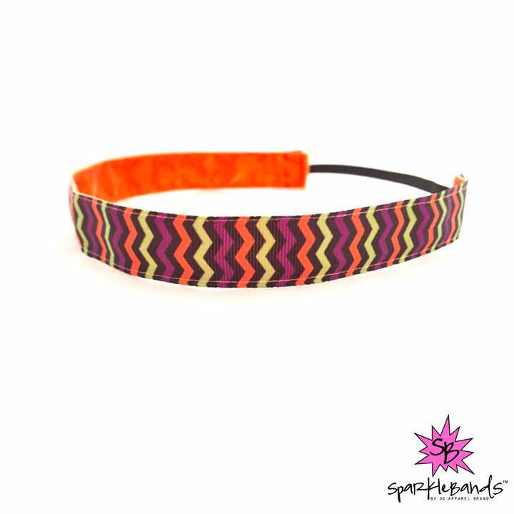 Halloween Chevron Headband -  Non-Slip Headband | DG Apparel Brand