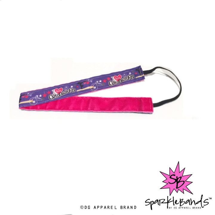 I Love Gymnastics Headband -  Non-Slip Headband | DG Apparel Brand