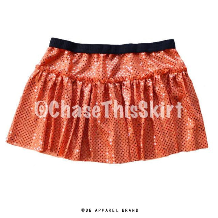 Orange Sparkle Running Skirt -  Running Skirt | DG Apparel Brand