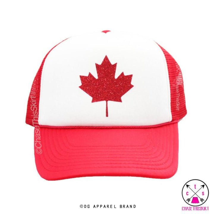 Sparkly Maple Leaf Trucker Hat -  Trucker Hat | DG Apparel Brand