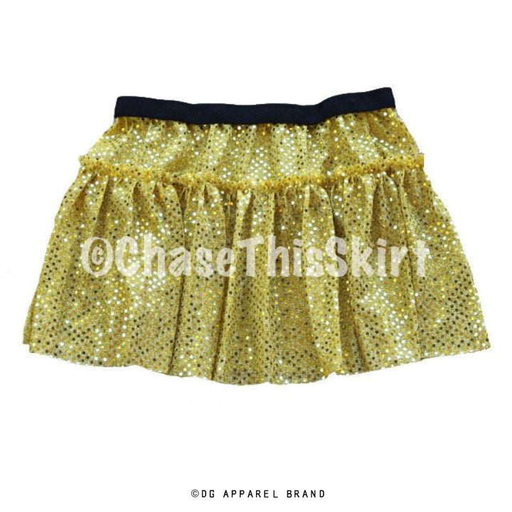Yellow Gold Sparkle Running Skirt -  Running Skirt | DG Apparel Brand