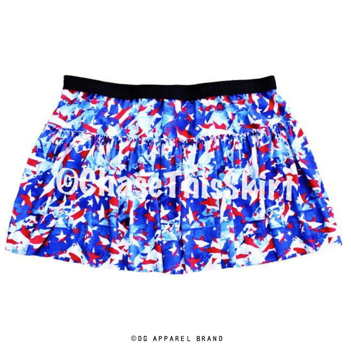 Red, White and Blue Running Skirt -  Running Skirt | DG Apparel Brand