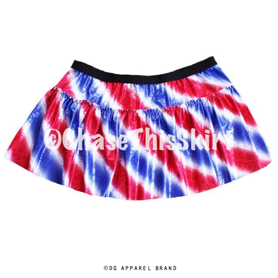 Red, White and Blue Striped Running Skirt -  Running Skirt | DG Apparel Brand