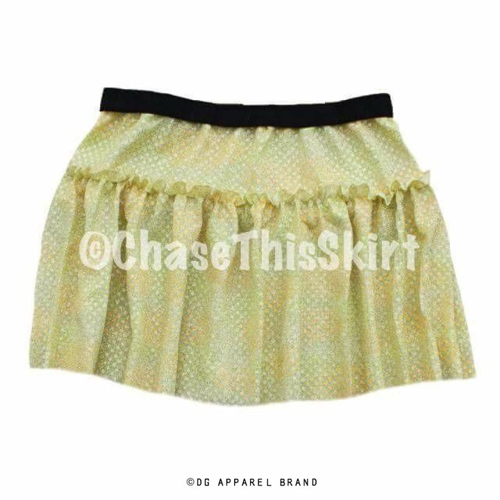 Textured Yellow Gold Sparkle Running Skirt -  Running Skirt | DG Apparel Brand