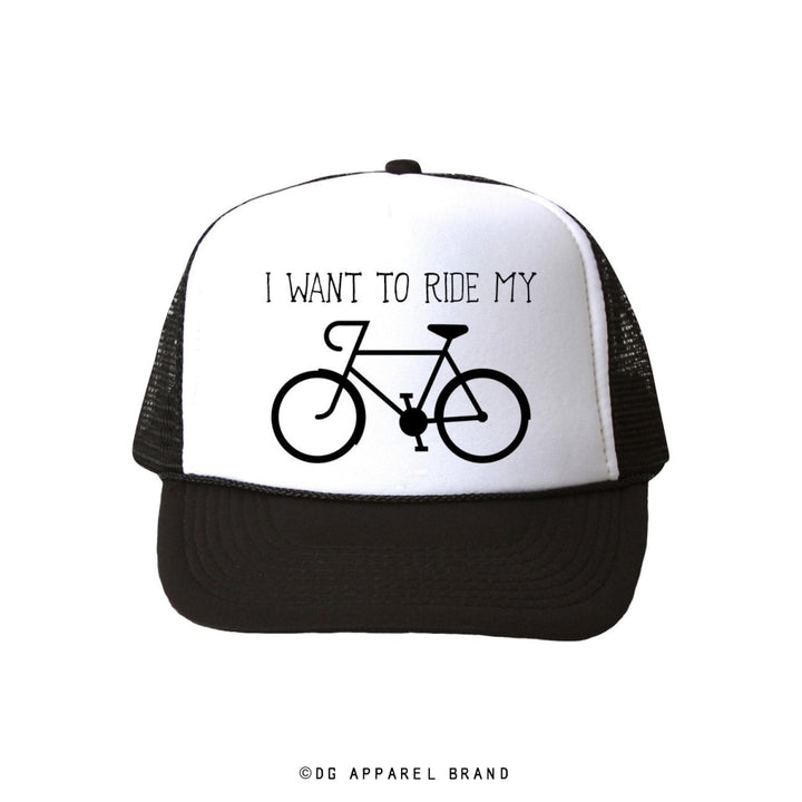 I Want To Ride My Bicycle Trucker Hat -  Trucker Hat | DG Apparel Brand