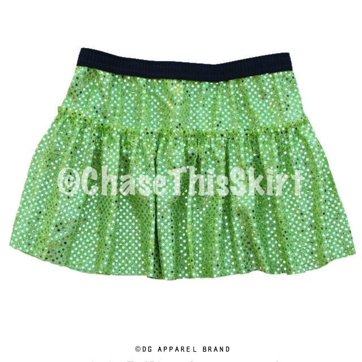 Lime Green Sparkle Running Skirt -  Running Skirt | DG Apparel Brand