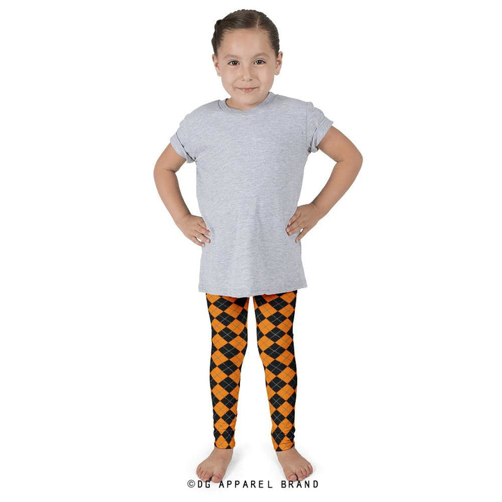 Halloween Argyle Kids' Leggings -   | DG Apparel Brand