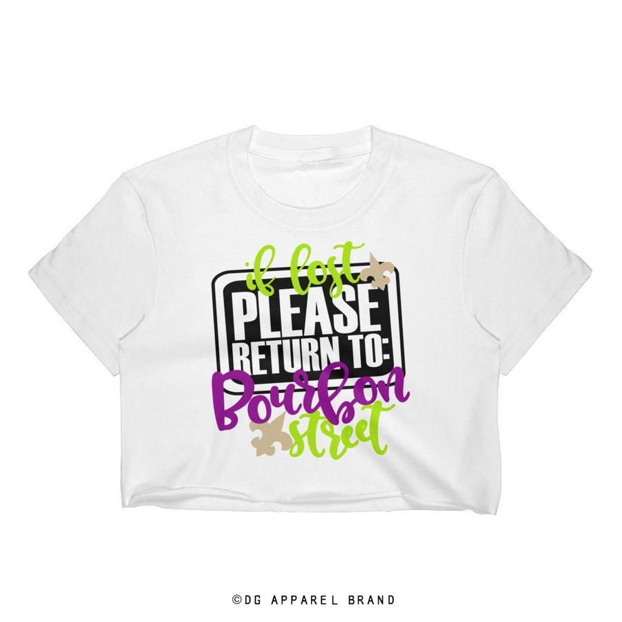 Bourbon Street Women's Crop Top -   | DG Apparel Brand