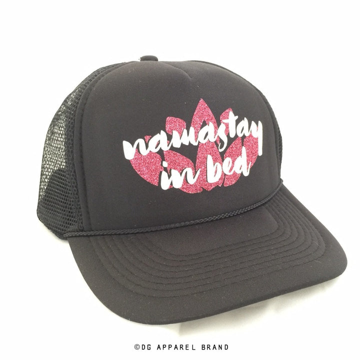 Namastay In Bed Trucker Hat -  Trucker Hat | DG Apparel Brand