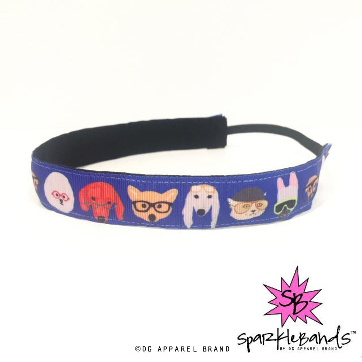Nerdy Dogs Headband -  Non-Slip Headband | DG Apparel Brand