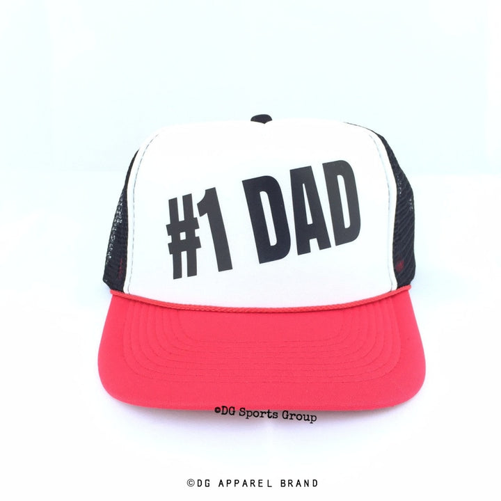 Number One Dad Trucker Hat -  Trucker Hat | DG Apparel Brand