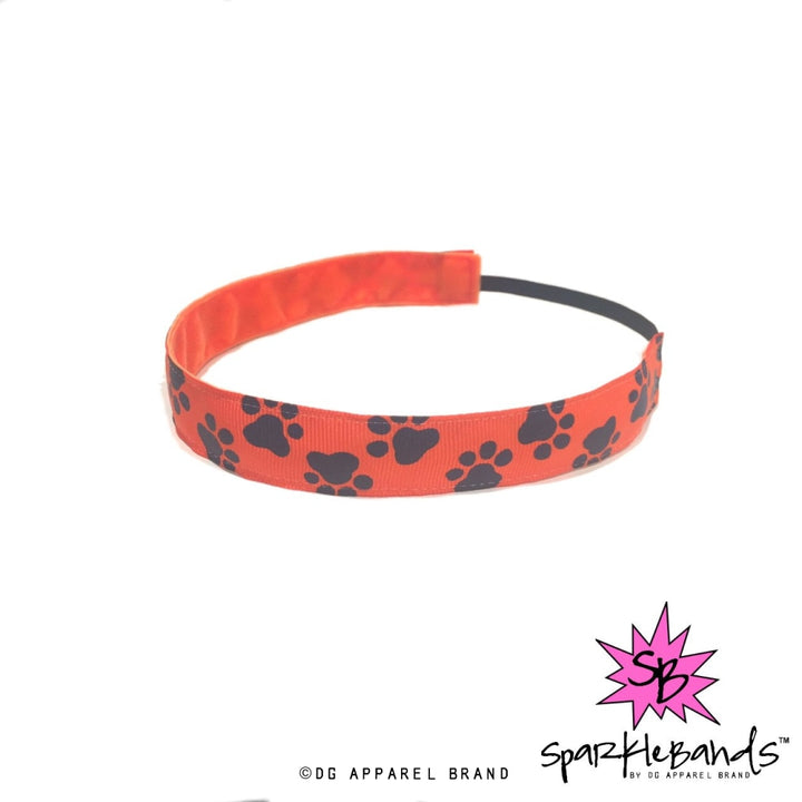 Orange Paws Headband -  Non-Slip Headband | DG Apparel Brand