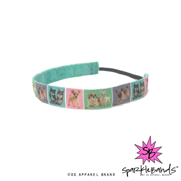 Pastel Puppies Headband -  Non-Slip Headband | DG Apparel Brand