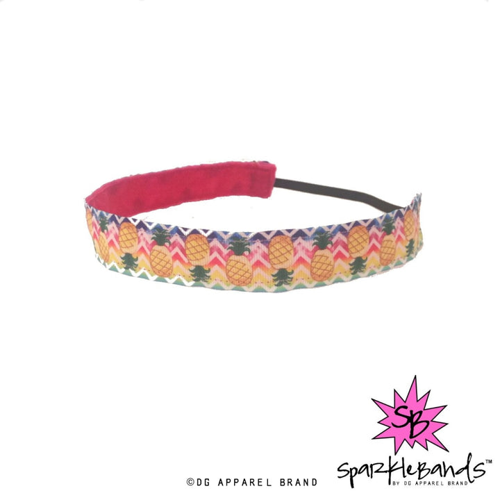 Pineapple Chevron Headband -  Non-Slip Headband | DG Apparel Brand