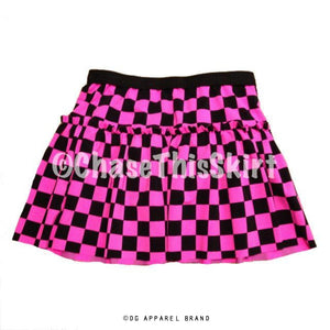 Pink Checkered Running Skirt -  Running Skirt | DG Apparel Brand