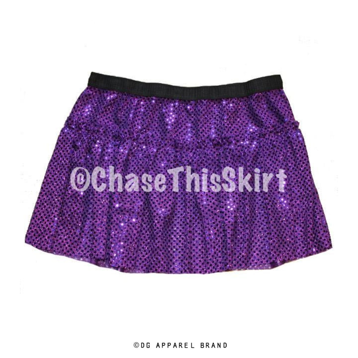 Purple Sparkle Running Skirt -  Running Skirt | DG Apparel Brand