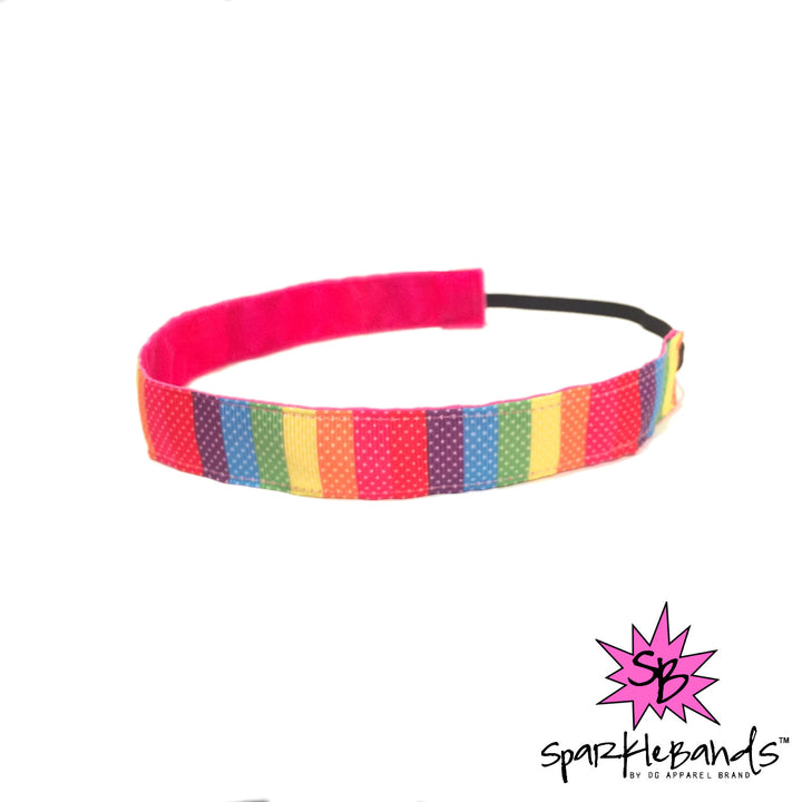 Rainbow Colorblock Headband -  Non-Slip Headband | DG Apparel Brand