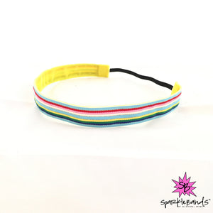 Gold Laced Rainbow Headband -  Non-Slip Headband | DG Apparel Brand