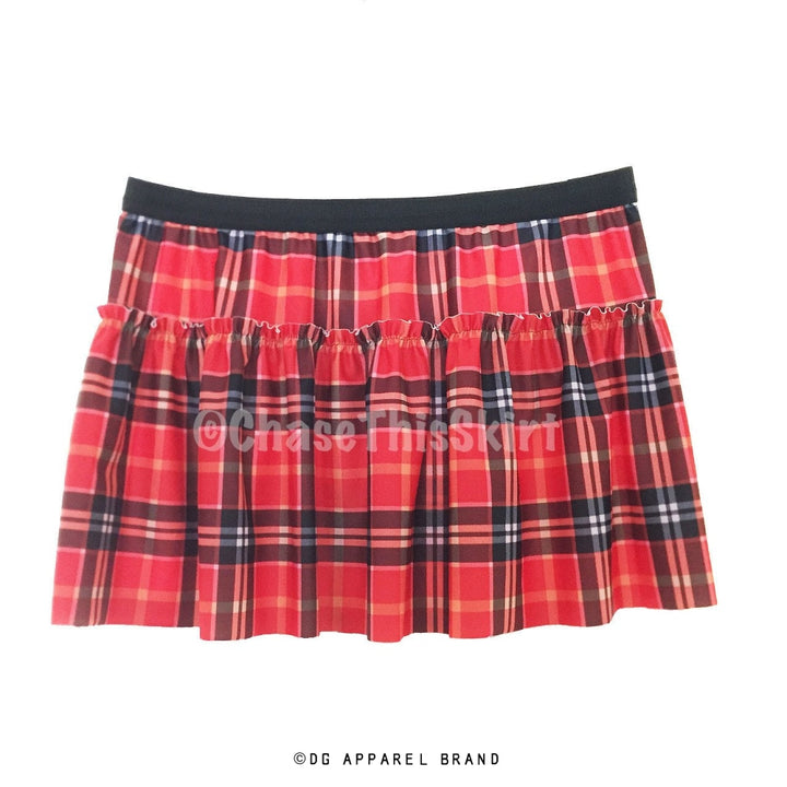 Red Plaid Running Skirt -  Running Skirt | DG Apparel Brand