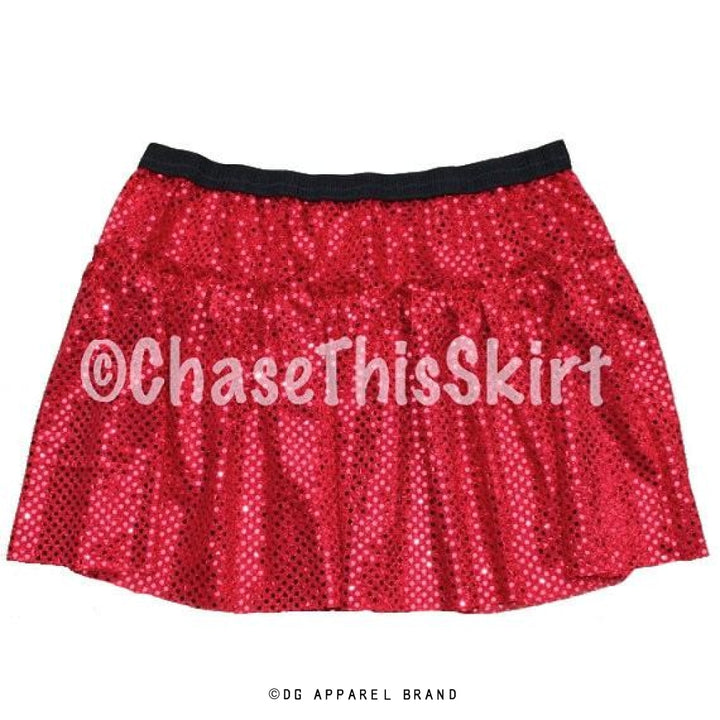 Red Sparkle Running Skirt -  Running Skirt | DG Apparel Brand