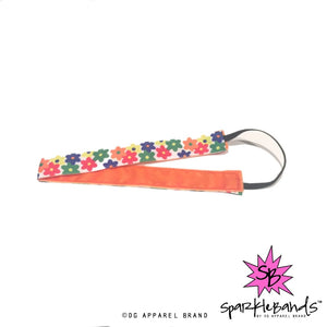Retro Flowers Headband -  Non-Slip Headband | DG Apparel Brand