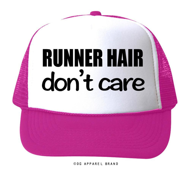 Runner Hair Don't Care Trucker Hat -  Trucker Hat | DG Apparel Brand