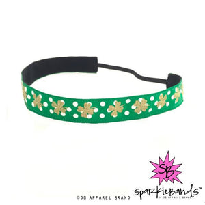 Golden Shamrock Headband -  Non-Slip Headband | DG Apparel Brand