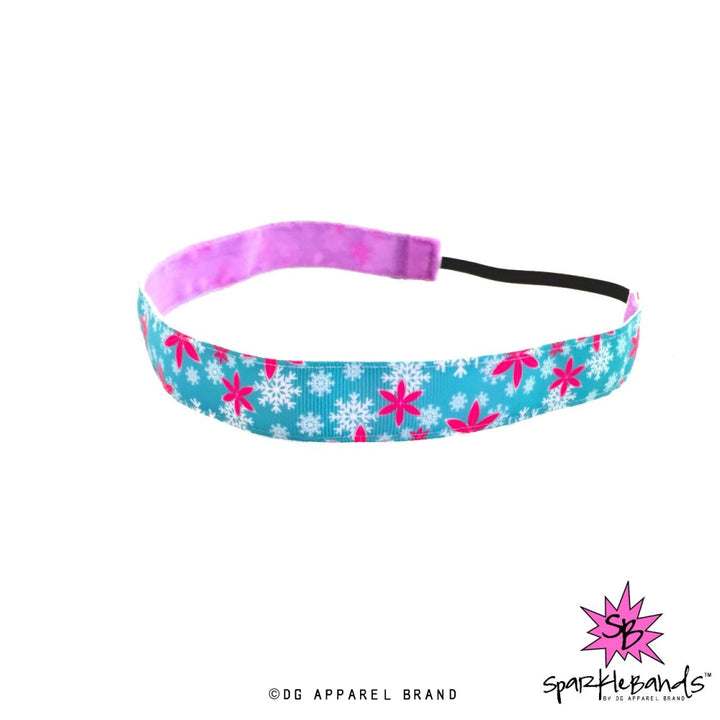 Snowflakes and Flowers Headband -  Non-Slip Headband | DG Apparel Brand