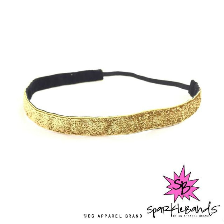 Gold Glitter Headband -  Non-Slip Headband | DG Apparel Brand