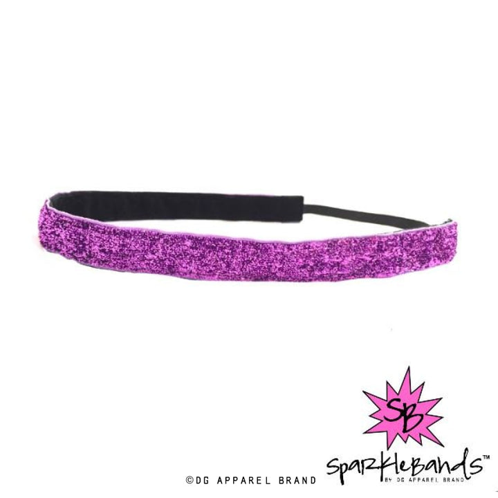 Purple Glitter Headband -  Non-Slip Headband | DG Apparel Brand