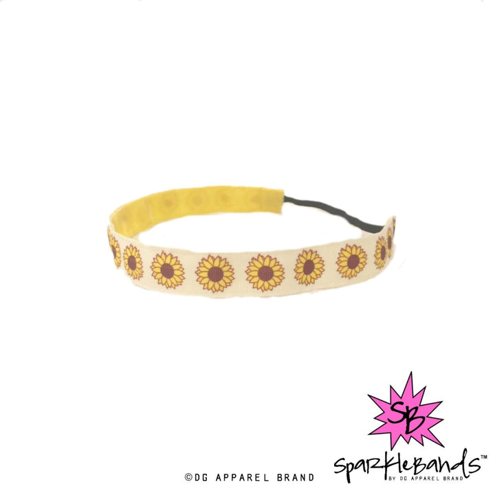Sunflower Headband -  Non-Slip Headband | DG Apparel Brand