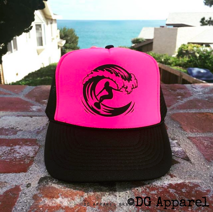 Surfer Girl Trucker Hat -  Trucker Hat | DG Apparel Brand