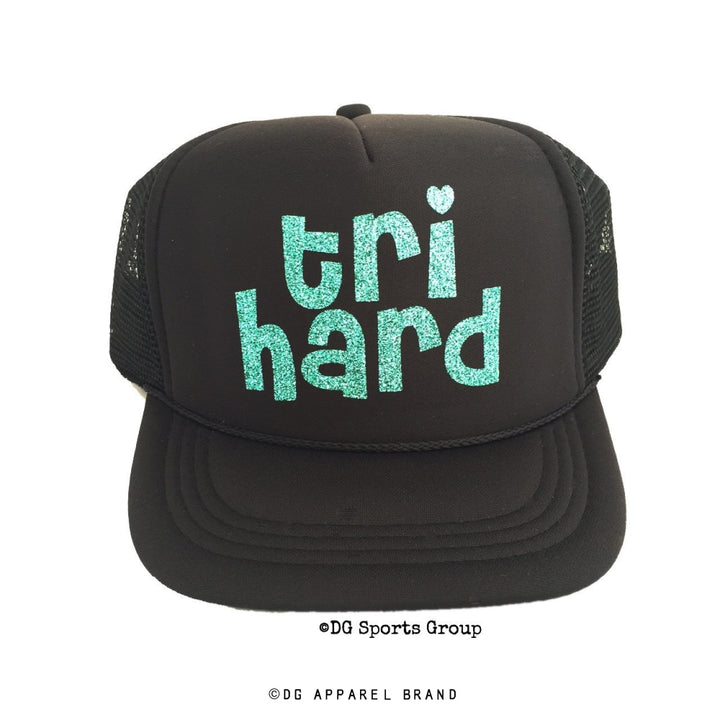 Tri Hard Triathlon Trucker Hat -  Trucker Hat | DG Apparel Brand