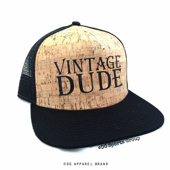 Vintage Dude Real Cork Trucker hat -  Trucker Hat | DG Apparel Brand