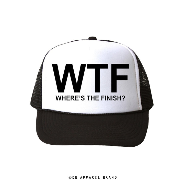Where's The Finish Trucker Hat -  Trucker Hat | DG Apparel Brand