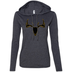 Buck Head Deer Skull 887L Anvil Ladies' LS T-Shirt Hoodie