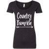 """Country Bumpkin"" NL6730 Next Level Ladies' Extreme Soft Wide Neck Shirt"