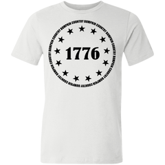 Country Bumpkin 13 stars 1776 3001U Unisex Made in the USA Jersey Short-Sleeve T-Shirt
