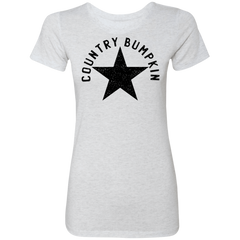 Country Bumpkin Distressed Star NL6710 Ladies' Triblend T-Shirt